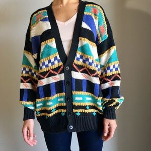 Members Only Oversized Sweater Cardigan Slouchy